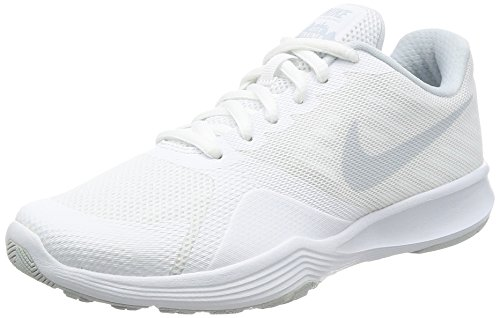 Nike Wmns City Trainer, Zapatillas de Running Mujer, Blanco (White/Pure Platinum 100), 36.5 EU