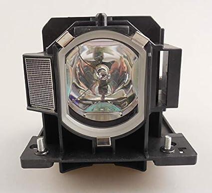 Supermait DT01091 Bulbo Lámpara de Repuesto para proyector con Carcasa Compatible con HITACHI CP-AW100N CP-D10 CP-DW10N ED-AW100N ED-AW110N ED-D10N ED-D11N CPAW100N CPD10 CPDW10N EDAW100N EDAW110N