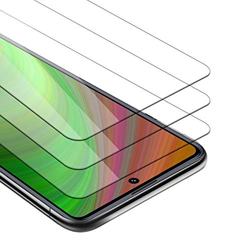 Cadorabo 3X Película Protectora Compatible con Xiaomi Redmi Note 9 Pro/Note 9s en Transparencia ELEVADA - Paquete de 3 Vidrio Templado (Tempered) Cristal Antibalas Compatible 3D con Dureza 9H
