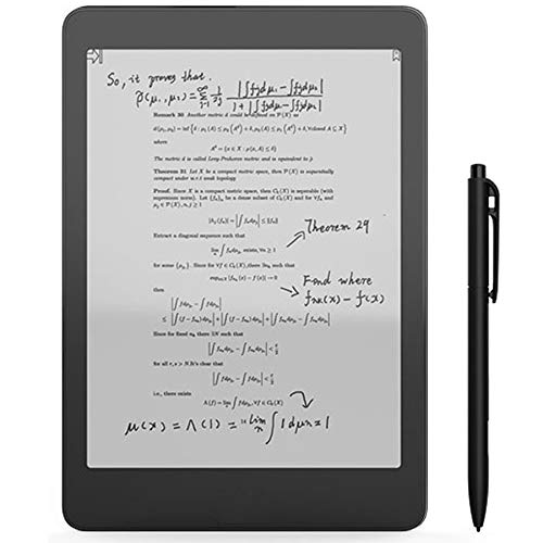 VCX 1e-Book Reader The First Versatile eReader 2G / 32G Contiene Dual Touch e Front Flat Light scr11en eBook Reader (Bundle : R+Case Sets, Color : Black)