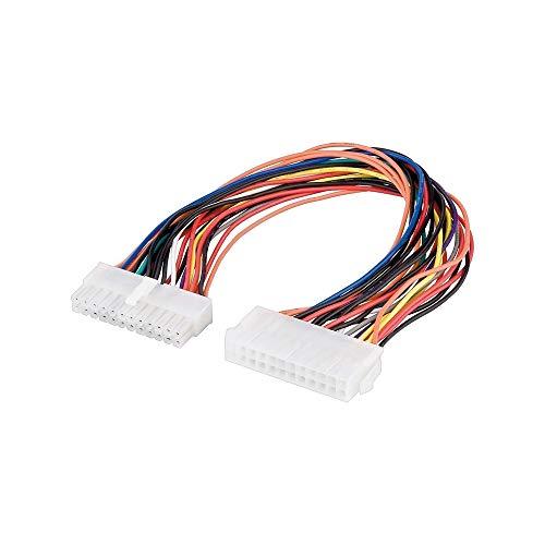 Wentronic Stromkabelverlängerung (24 Pin Stecker auf 24 Pin Kupplung) 0, 30 m