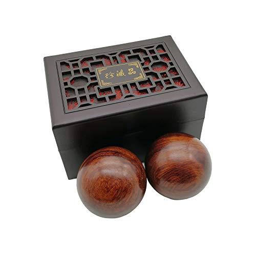 BCQLI 2 Inches Baoding Balls Chinese Health Exercise Stress Balls Rosewood