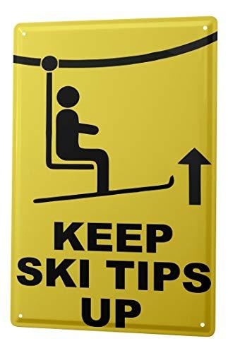 LEotiE SINCE 2004 Plaque en Métal Métallique Poster Mural tin Sign Nostalgique Platine Avertissement Ski