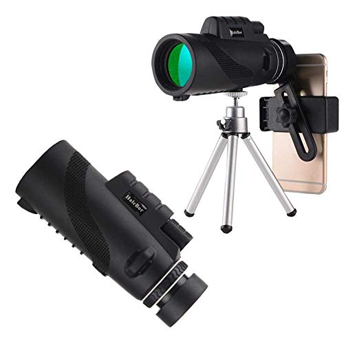 ZIYUMI Monocular Telescope for Smartphones Waterproof High Magnification Night Vision Device (50x60) Portable HD Monocular for Outdoor Use with BAK4 Prism Phone Holder and Tripod