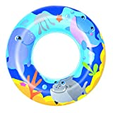 Bestway Inflatable Swim Ring 20 inch/ 51 cm   Sea Adventures Swimming Ring Float for Kids Teen   Easy Inflatable   Easy to Store Above 3+ Years Blue