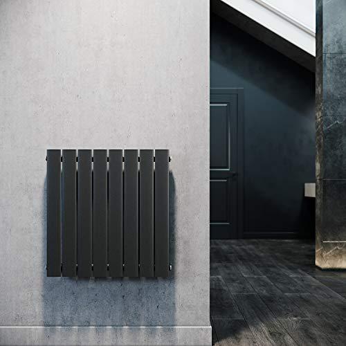 ELEGANT Paneelheizkörper Horizontal 630 x 616 mm Anthrazit Badezimmer/Wohnraum Einlagig Horizontal Heizkörper Badheizkörper Design Flachheizkörper