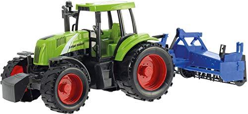 Toi-Toys Tractor con mango de aro, 31 cm, color verde/azul