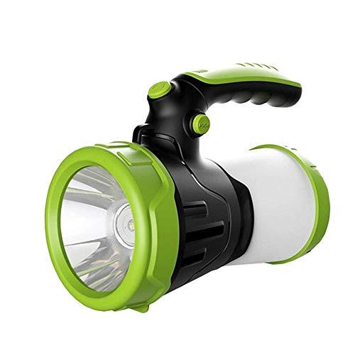 Gymqian Flowlight de Acampar Potente 6000Mah Portátil, Luz de Búsqueda Portátil Multifuncional, Luz de Caza Impermeable, con 4 Modos de Iluminación, para Al Aire Libre, Camping, Ver