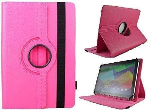 Theoutlettablet Funda Giratoria 360º para Tablet MEBERRY 10 Pulgadas 10.1' - Rosa Fucsia