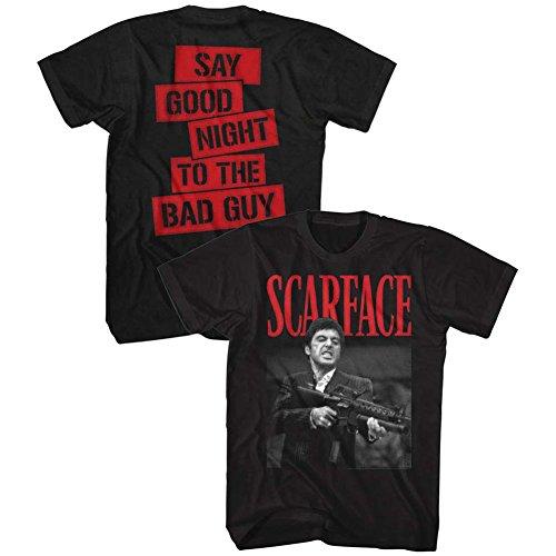 American Classics Scarface 1983 Crime Film Movie Dakkadakka Black 2-Sided Adult T-Shirt Tee