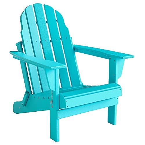 TITLE_Folding Adirondack Chair, Patio Outdoor Lawn Furniture