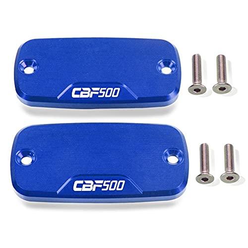 Front Brake Reservoir Fluid Cap Accesorios De Motocicleta CNC Tapa De Depósito De Freno Delantero De Aluminio para Honda CBF 500 2004 2005 2006 2007 (Color : Azul)