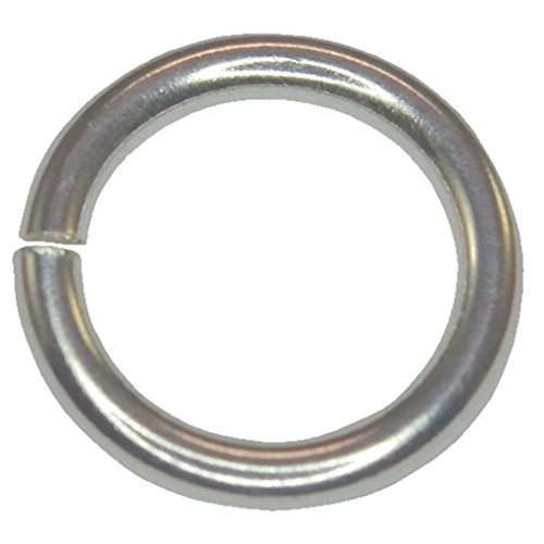 Jump Rings Round Opened Unsoldered for DIY Handmade Jewelry 925 Sterling Silver OD-4mm~Wire-0.8mm~AWG-21 (40 pcs)