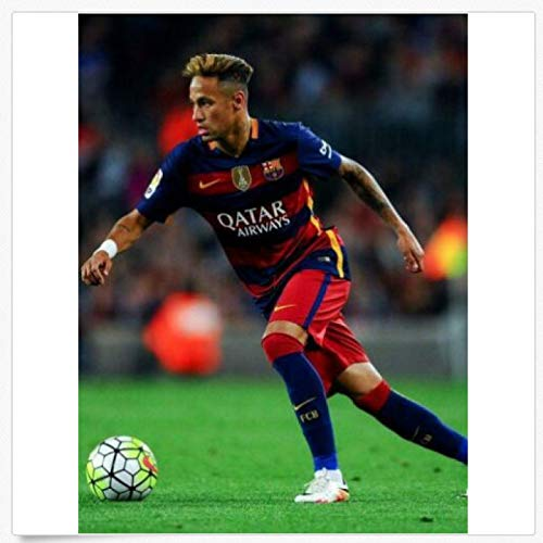 MGSHN Neymar Jr 10 Paris Saint-Germain PSG Barcelona Fútbol Futbolista Póster Obra...