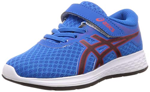 ASICS Unisex-Kinder Patriot 11 Ps Laufschuhe, Blau (Electric Blue/Speed Red 400), 34.5 EU