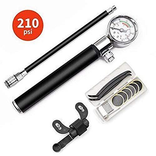 WG Mini Fiets Waterpomp Set Multi-Functie Fietsband zonder Lijm Punctuur Reparatie Kit 210PSI Fietsband Pomp voor Presta En Schrader Kleppen