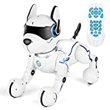 MARUSTAR Remote Control Robot Dog Toy,RC Robotic Stunt Puppy, Imitates Animal Sounds, Dances with Music, Robot Toys for Kids Boys and Girls Age 2,3,4,5,6,7,8,9,10 Year Old