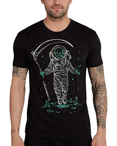 INTO THE AM Astroreaper Men's Graphic T-Shirt (Black, Medium)