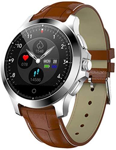 hwbq Monitor de ritmo cardíaco para exteriores con Bluetooth ECG + PPG, resistente al agua, contador de pasos, multifunción para hombres y mujeres, reloj inteligente multideportivo