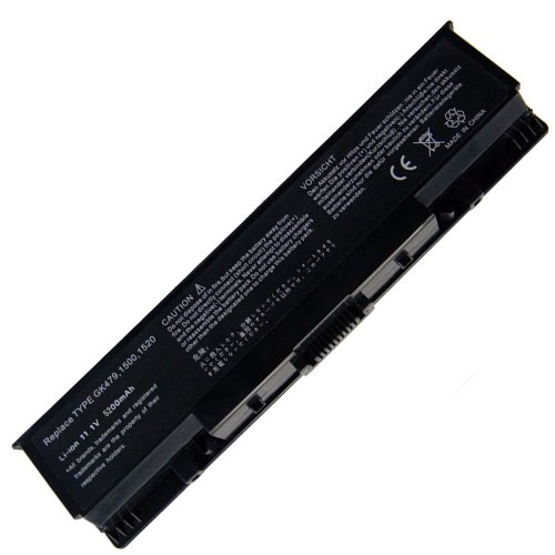 Exxact Parts Solutions Laptop Battery for Dell Inspiron 1520 1521 1721, Vostro 1500 1700, PN: W280 0UW280 NR239 312-0589 451-10477 FK890 GK479 FP282[Li-ion 11.1V 5200mAh 6 Cell]