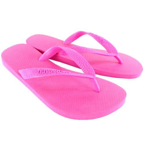 Havaianas Damen Top Urlaub Strand Flip Flops Sommer Sandaleen Schlüpfen-Auf - Hellrosa - 35/36