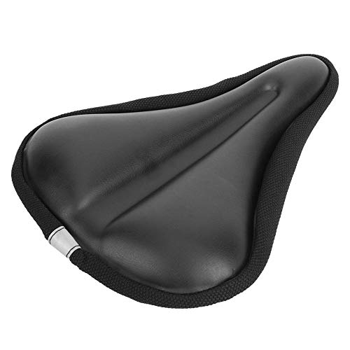 Folding Bicycle Seat, Mountain Bike Saddle, Bicycle Saddle Weather Resistant Black Outdoor Riding for Cyclist Replacement Accessory Bike