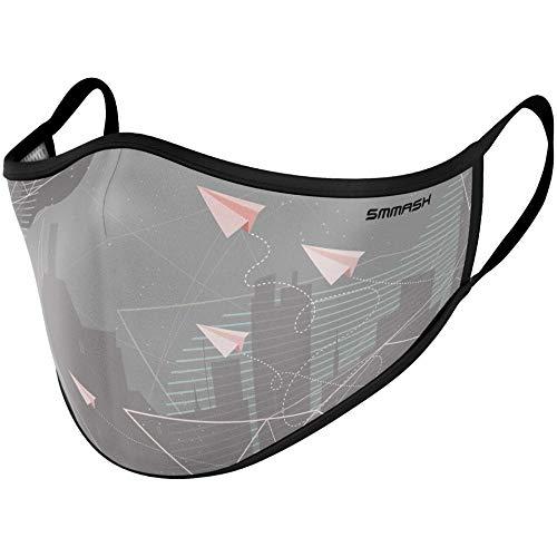 SMMASH Premium Design Mundschutz Maske Wiederverwendbar, Hochwertiges Gesichtsmaske Waschbar, Hergestellt in der Europäischen Union, Staubschutzmaske für Damen, Herren