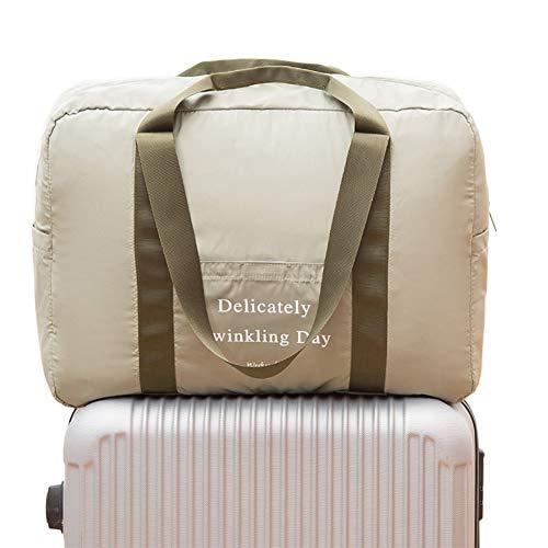Belsmi Foldable Travel Duffle Bag Duffel Waterproof Lightweight Storage Carry Luggage Gym Sports Tote Bag (Green)