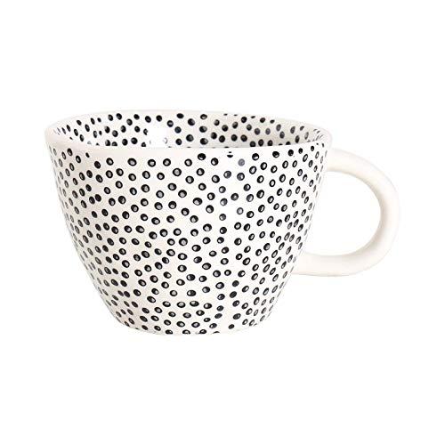 Tazas de café, en relieve a mano Tazas grandes pintadas a mano Taza de desayuno 300 ml-B
