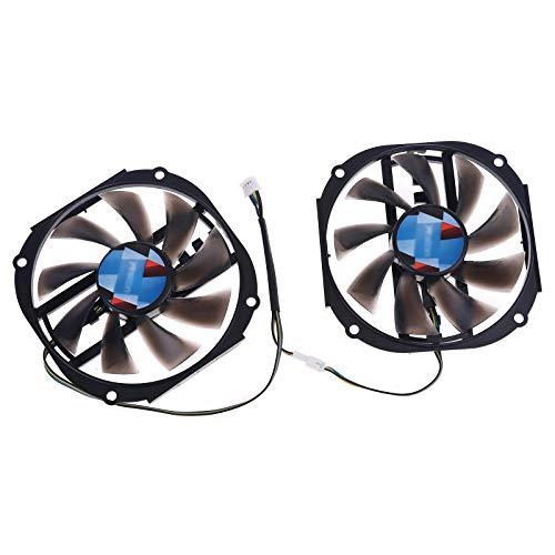 MYBOON 2pcs 95mm 4gb GPU Ventilador de refrigeración Yeston RX480 570580 Ventilador de Tarjeta gráfica