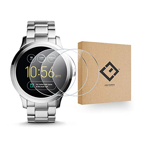 CENTAURUS Replacement for Fossil Q Founder Gen 1 Glass Screen Protector-(3 Packs) Anti-Scratch Shatter Proof HD Hardness Smart Watch Tempered Glass Protective Film Q Founder Gen 1 (38mm)