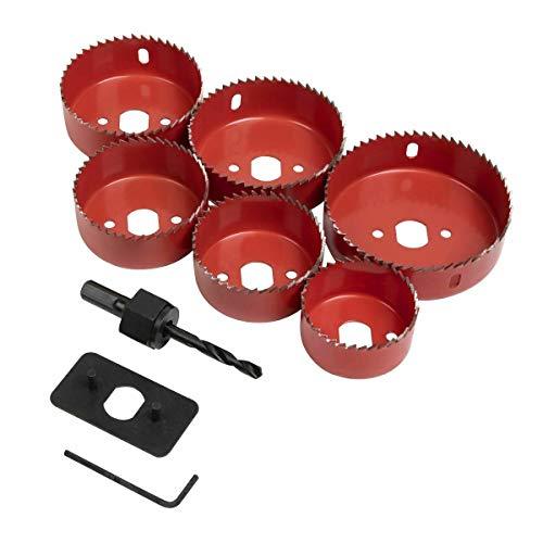 9 piezas abajo luz instalación corona kit multi-tamaño Downlighter piloto agujero sierra corte conjunto madera DIY 51-86mm