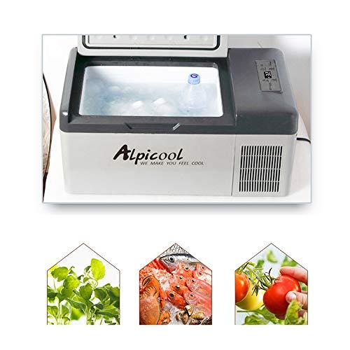 Refrigerador portátil para coche, congelador, 15L, compresor de nevera automático, refrigeración rápida, nevera para picnic
