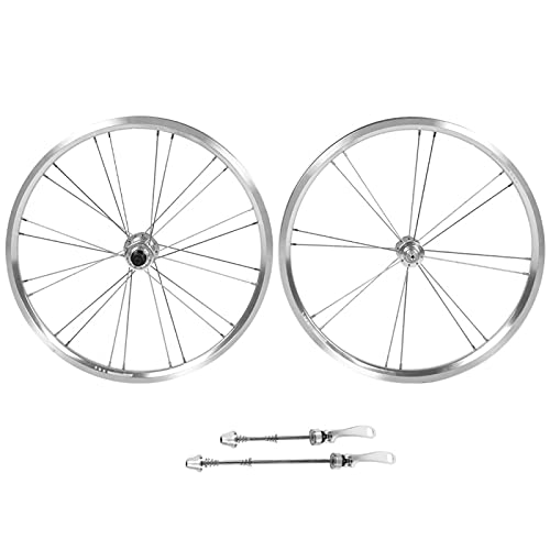 SHYEKYO Juego de Ruedas de Bicicleta de aleación de Aluminio Características estables Juego de Ruedas de Bicicleta de 0 Pulgadas duraderas, para Bicicleta de montaña, para Bicicletas(Silver)