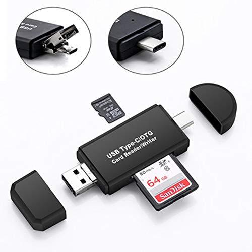 LSQ 3-in-1-OTG-Kartenleser Typ C/Micro-USB/USB Hochgeschwindigkeits-USB 2.0-OTG-TF/SD für Android-Computererweiterungs-Header