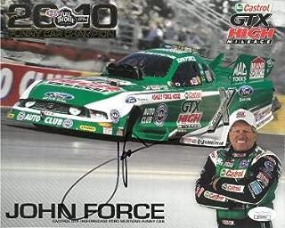 john force autograph