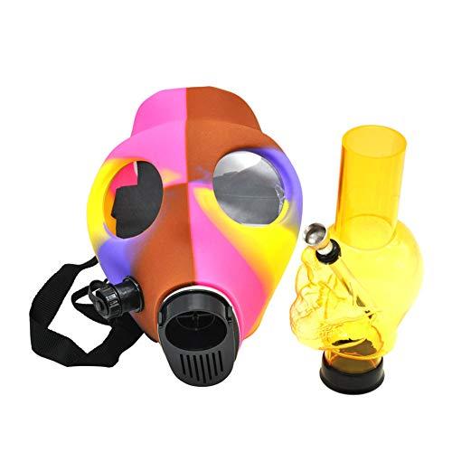 Maske Bong Shisha Silicon Schädel-Form-Gasmaske Bong Rauchen Wasser Tabak Shisha Für Party Kostüm Und Party Fun