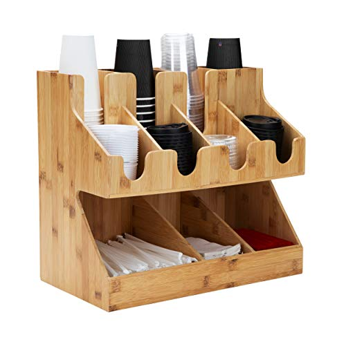 Mind Reader Condiment Station, 11 Compartments, Brown