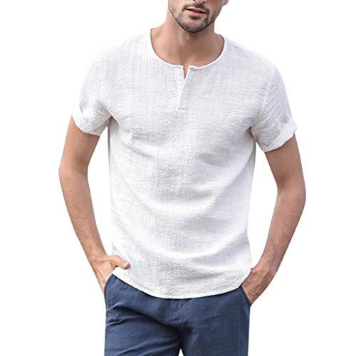 Sylar Camisetas Hombre Verano Manga Corta Camisetas Hombre Originales Cuello Redondo Suave Básica Camiseta Moda Diario Casual T-Shirt Blusas Blusas De Algodón Y Lino Color Sólido