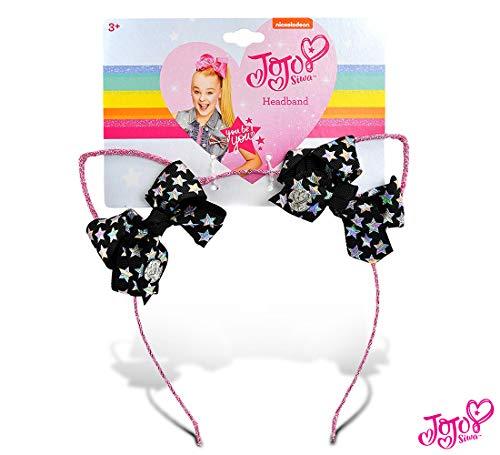 JoJo Siwa Girls Glitter Cat Ear with Mini Bow Headband