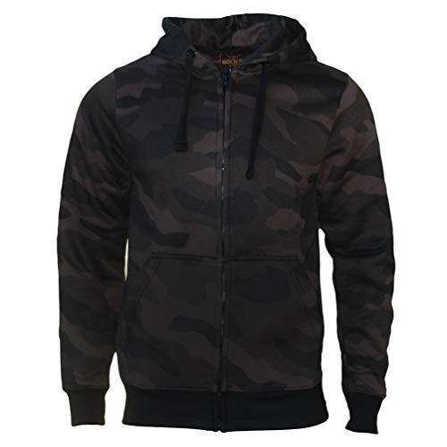 ROCK-IT Apparel® Sudadera con Capucha Chaqueta Sudadera Pesado Camuflaje Cremallera con Capucha suéter de Trabajo - Hombre - Color Dark Camo -RI1039-5XL