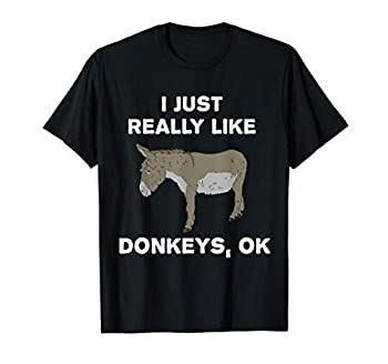 I Just Really Like Donkeys OK? Funny Donkey Gift T-Shirt