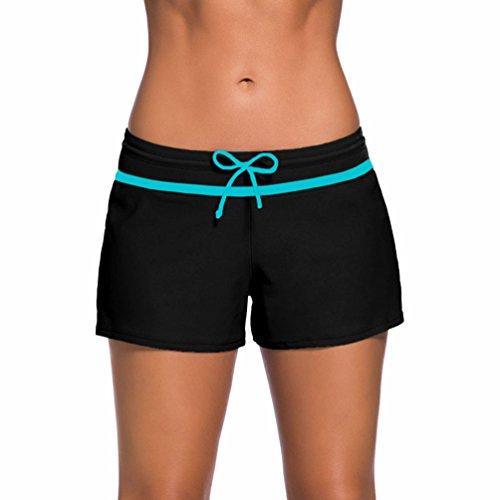 TieNew Mujer Shorts de baño- Braguitas de Bikinis para Mujer,2018 Traje de Baño Bañador de natación Bikini para Mujer Bragas Pantalones Cortos Bañador Short Mujer Deportivo Boardshorts Traje de Bañob