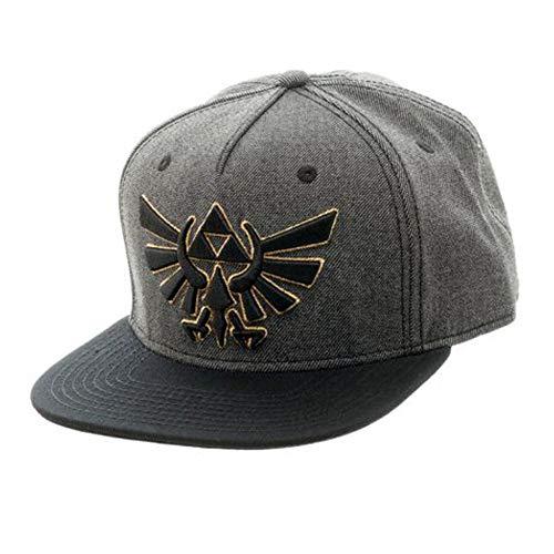 The Legend of Zelda Nintendo Zelda Grey & Black Snapback Baseball Hat