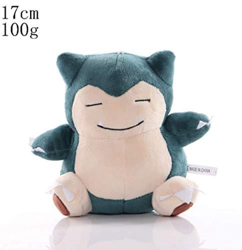 MOLIHUA Peluche Pokemon Bebé Regalo de cumpleaños Anime Peluches Snorlax 17cm