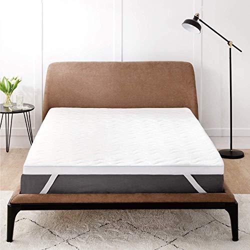 BEDSURE Matratzentopper 90x200cm Bett Topper - 7 cm Höhe Topper 90 200cm mit 2 in 1 Memory Foam, orthopädische Matratzen Topper für eine weiche, Feste und entlastende Unterstützung