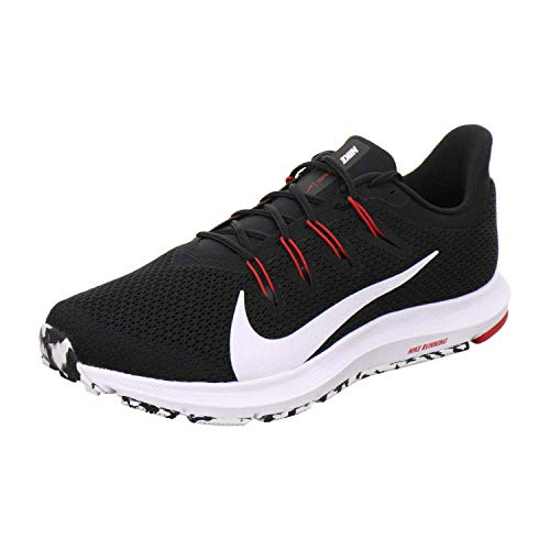 Nike Herren Quest 2 Leichtathletikschuhe, Mehrfarbig (Black/White/Anthracite/University Red 008), 42.5 EU