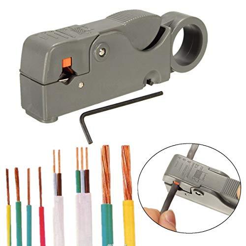 ChaRLes 2 Unids Rg6 / 59 Cuchillas Dobles Herramienta para pelar cables de cortador pelacables completamente ajustable