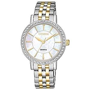 Reloj Citizen EL3044-89D Elegance de señora con Esfera de nacar, Bisel
