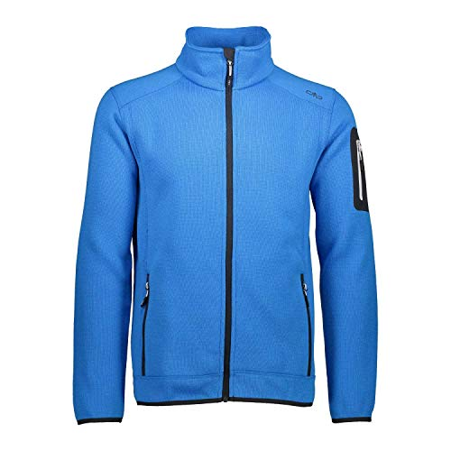 CMP Herren Fleece Jacke Knitted Jacket 3H60747 Regata-Stone 54